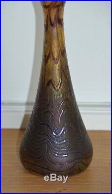 Ancien Vase en Verre Irisé LOETZ Art Nouveau Jugendstil Glass