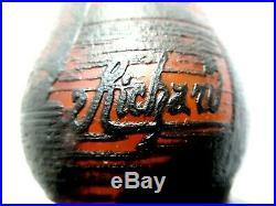 Ancien pied de lampe en pâte de verre Art Nouveau Paysage lacustre signé RICHARD