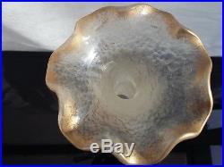 Ancien vase, pâte de verre, émaillé, style MONTJOYE LEGRAS, Art Nouveau