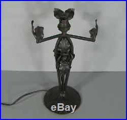 Ancienne Lampe Style Art Nouveau Signée Muller Frères Lunéville Verre Marmoréen