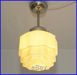 Art Déco Plafonnier Gratte-Ciel 1930 Art Nouveau Pendentif Plafond Light Petit