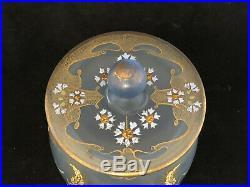 Art Nouveau Seau à Biscuit Verre Emaillée Coquelicot Fleurs Vers 1900 Jugendstil