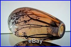 Art Nouveau/ Vase Pte De Verre Dégagé L'acide Era Daum Galle Muller Luneville