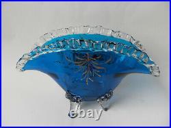 Auguste Jean vase jardinière en verre émaillé art nouveau era Legras Daum Gallé