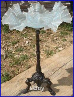 -Austria Glass Coupe Haute verre Art Nouveau Pietement Bronze