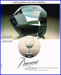 Baccarat Verre A Vin Roemer Cristal Gravé Monogramme Fc Doublé De Couleur Coloré