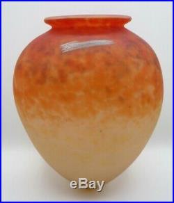 Charles SCHNEIDER le verre français Gros obus-ogive pate de verre, daum, gallé