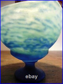 Coupe à fruits Art-Nouveau en pâte de verre signée DAUM NANCY