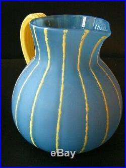 Cruche vase art nouveau art déco 1900 pâte de verre Daum Nancy croix de Lorraine