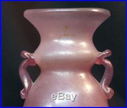 D 19ème art nouveau superbe pot 24cm1.3kg pate de verre murano gallé legras