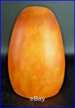 DAUM # NANCY Tulipe pate de verre orange et jaune, gallé, muller, schneider, argy