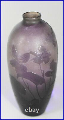 DArgenta Paul Nicolas1875/1952 Vase ovoïde Art Nouveau-Verre en camée