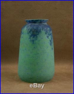 Daum Nancy Belle Tulipe En Pate De Verre Marmoreen Art Nouveau Bleu Vert