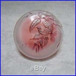 Émile Gallé boîte Art Nouveau bonbonnière verre
