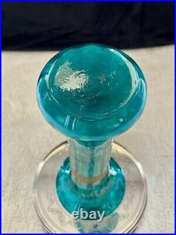 Francois T. Legras Vase à col en verre soufflé à décor floraux Art nouveau