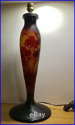 Grand Pied De Lampe Art Nouveau DArgental Paul Nicolas Pate De Verre Gallé