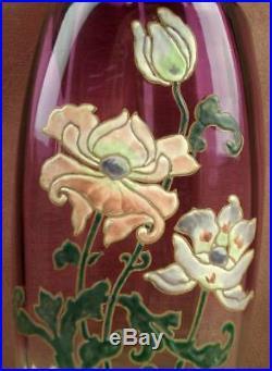 Important Vase En Verre Emaillé Art Nouveau Legras