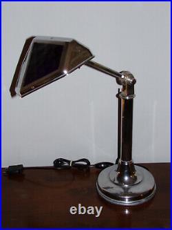 LAMPE PIROUETT A VERRES BLEUE SALON Articulée à 2 bras, avec un bras télescopiqu