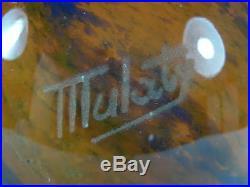 Lampe Art Nouveau Deco Pate De Verre Signee Mulaty Lamp Vintage Glass Paste