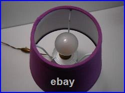 Lampe De Salon Pied Muller Luneville Pate De Verre Art Nouveau / Lamp