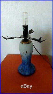 Lampe En Pate De Verre Style Muller Art De France