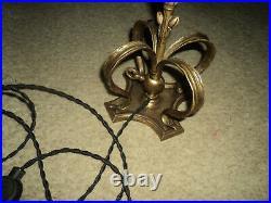 Lampe Tulipe Pate De Verre Pied Bronze Art Deco/nouveau 1900 Era Daum Muller