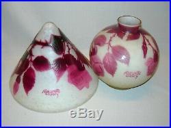 Lampe art nouveau ancienne pate de verre signé A Delatte