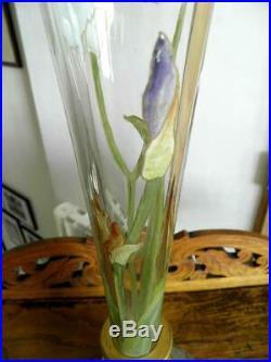 Legras Vase Soliflore Émaillé Art Nouveau (332)