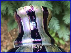 Loetz Non Signée Verrerie Pâte Verre Antique Class Vase Art Nouveau Jugendstil