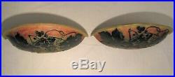Paire d'appliques en pâte de verre multicouche Daum Nancy époque art nouveau