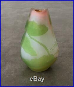 Petit Vase Gallé Étoile Vase Pâte de Verre Ancien Art Nouveau
