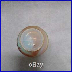 Petit vase Daum Nancy Art Nouveau chardons verre dégagé à l'acide
