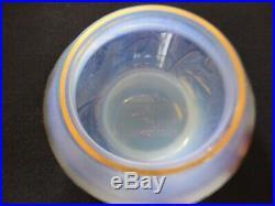 Précieuse petite coupe DAUM NANCY en pâte de verre opalescente 8 cm de diamètre