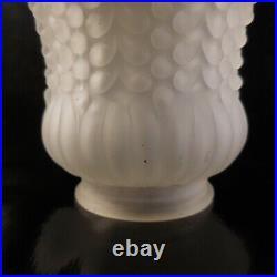Tulipe verre éclairage lampe suspension lustre art nouveau XXe France N3663