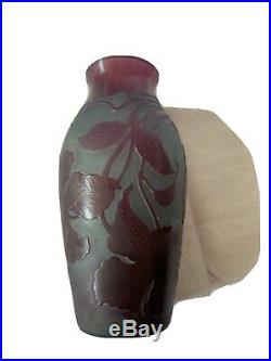Vase D'ARGENTAL Paul Nicolas verre multicouches pate Art nouveau daum galle