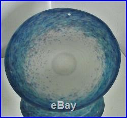 Vasque pâte de verre Muller Frères pour lustre lampe Art Nouveau / Déco 1900