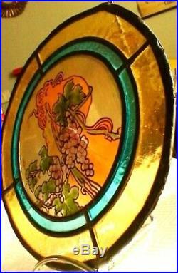Vitrail art nouveau de mucha vers 1880 environ en parfait état